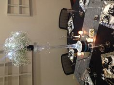 Elegant wedding reception done by Elegant Times, when the lights were dimmed everything sparkled , lots of bling