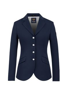 A sophisticated dressage jacket with a fitted design and breathable elastic will enable you look good in the arena and compete in comfort. The show jacket has been finished with pear buttons and pearl detailing to the collar.