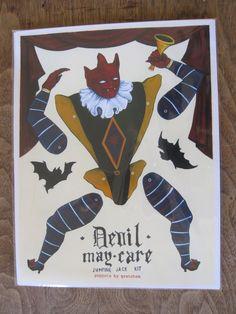Devil May Care Jumping Jack Kit von PuppetsbyGretchen auf Etsy, $5.50