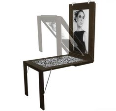 Picture Table mounts on the wall as a decorative picture frame