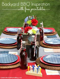 backyard bbq tablescape
