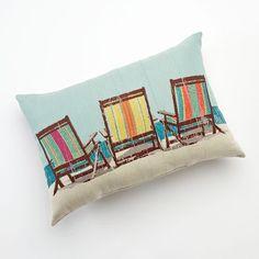 Beach Chairs Decorative Pillow