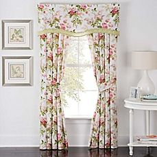 image of Waverly® Emma's Garden Rod Pocket Window Valance in Blossom