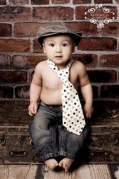 Cute baby boy! Preston 6 month photoshoot