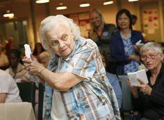 Nintendo Wii was a hit among elderly people