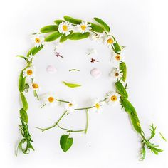 Make flower portraits   creative simplicity: walk, talk, pick, make portraits with your kids (or alone!)   willowday
