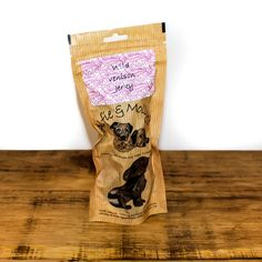 A yummy air-dried dog treat from Alfie & Molly's. This wild venison jerky is a natural treat for your dog. Made in the UK. Venison Jerky, Natural Dog Treats, Healthy Dog Treats, Your Dog, Dogs, How To Make, Doggies, Pet Dogs
