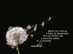 I love the dandelion in this..It's how I want my tattoo to look.