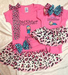 Big Sister Little Sister Matching TShirt by myembroideryboutique Big Sister Little Sister, Baby Sister, My Baby Girl, Little Sisters, Baby Love, To My Daughter, Lil Sis, Matching Sister Outfits, Mommy And Me Outfits