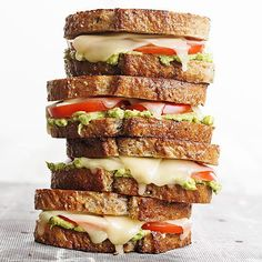Tomato-avocado grilled cheese? Yes, please.