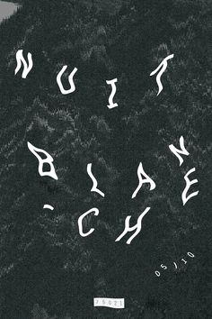 Nuit blanche #graphicdesign #poster