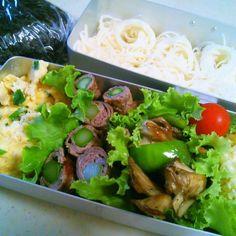 最近息子2人がめっちゃ食う 今朝は米が足らず素麺入れたった(゚∀゚) - 51件のもぐもぐ - 長男そうめん弁当 by yukidarumama