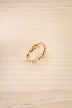 Byremo #lapetitegarconne #ring #gold #reefknot