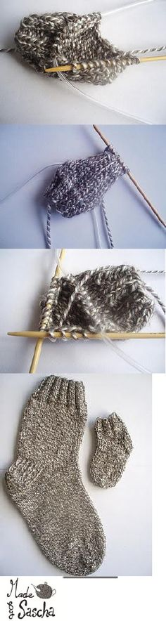Pattern For Knitting Socks On 9 Inch Circular Needles : Crochet socks on Pinterest Socks, Slipper Socks and Baby ...