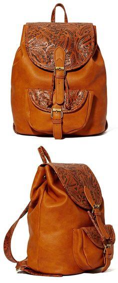 Brown Boho Inspired Backpack - perfect for festivals!!!