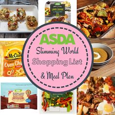 Asda 7 Day Slimming World Meal Plan & Shopping List. Budget friendly and low syn… - Meal Planning Slimming World Meal Prep, Asda Slimming World, Slimming World Shopping List, Slimming World Recipes Syn Free, Shopping Lists, Slimming Word, Slimming Eats, Easy To Cook Meals, 7 Day Meal Plan