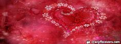 Saint Valentines Day Heart Valentine Flowers Facebook Cover - Facebook Timeline Cover Photo - Fb Cover