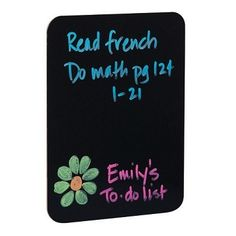 "9.5"" x 12"" Black Dry Erase Board College Items Fun Decor Marker Messenger Hang Photos Decorate"