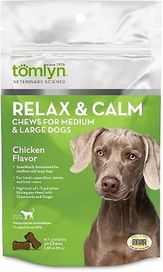 Tomlyn Relax  Calm Chews Medium and Large Dogs 30ct -- Click image for more details.
