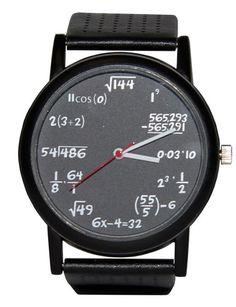 ThinkGeek :: Equation Watch... all the geek boys would be jealous.