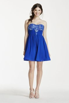 Strapless Beaded Dress Style 8344XX8P