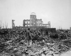 After World War II, the city of Hiroshima was left destroyed. It was turned into a peace memorial city.