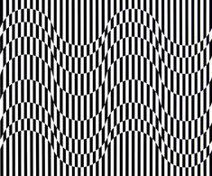 By bridget riley Op Art, Art Optical, Optical Illusion Art, Optical Illusions Drawings, Bridget Riley, Eye Tricks, Eyes Game, Zentangle Patterns, Doodle Patterns