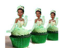 Princess Tiana Cupcake Topper or Cake pop topper(24pcs)