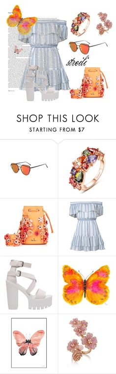 """feeling orange today"" by streili on Polyvore featuring mode, Marina Hoermanseder, LoveShackFancy, WALL, ASOS, Spring, shoulderoff et streili"