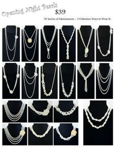 Most durable Pearls at a most reasonable price.  Look at all the way you can wear it!!