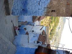Moroccan street.  Chefchaouen.