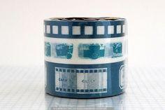 Camera Film Japanese Washi Tape -TEAL BLUE Set of 3. $8.50, via Etsy.