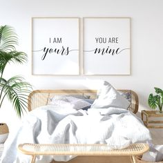 I Am Yours You Are Mine Printable Art, Set of 2 Wall Art, Couple Bedroom Decor, Romantic Prints, Bedroom Printables *Instant Download*