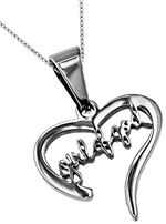 "Christian Scripture Jewelry - Rapturewear.com    Hand Writing Heart Necklace ""Girl of God"""