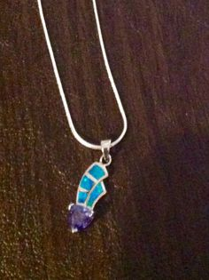Opal and Tanzanite in Sterling Silver by DesignsbyLisaLee on Etsy