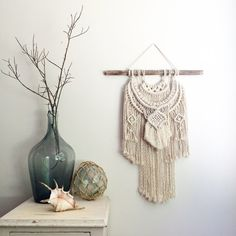Hey, I found this really awesome Etsy listing at https://www.etsy.com/listing/291398537/macrame-wall-hanging-unbleached-natural