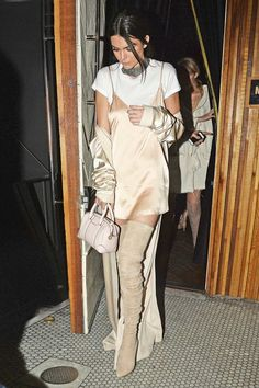 Take hints from Kendall Jenner on how to pull off pale pink.