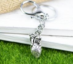 Show your love of biology with this heart keychain! Unique Key, Oh My Heart, Anatomical Heart, Key Chains, Fall 2018, Biology, Medicine, Canada, Australia