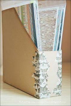 Киевский скрапклуб: Мастер класс: удобный короб для хранения скрап бумаги своими руками.