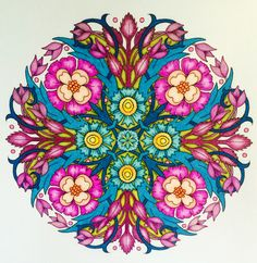 Mandala by CYNTHIA EMERLYE Coloring by Harold Suttles