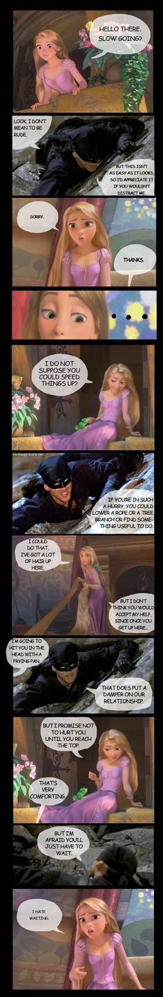 Princess Bride and Tangled. This is the best thing EVER. bahahahaha