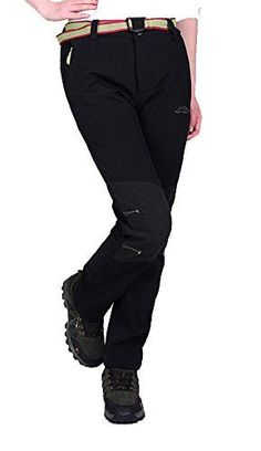 Oncefirst Womnes Winter Fleece Slimming Active Climbing Pant 2XL Black -- Continue to the product at the image link.