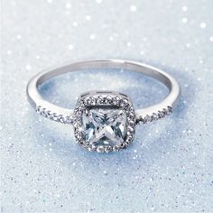 Silver and Cubic Zirconia Ring *Prices Valid Until 25 Dec 2013 Gold Jewelry, Fine Jewelry, Cubic Zirconia Rings, Diamond Rings, Dream Wedding, Silver Rings, Engagement Rings, Jewels, My Style