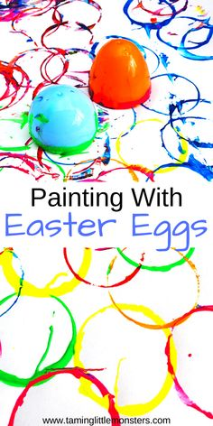 Use plastic Easter Eggs to do some stamp painting for kids. This fun process art activity is perfect for toddlers and preschoolers who are developing fine motor skills and color recognition. Alphabet Activities Kindergarten, Art Activities For Toddlers, Painting Activities, Spring Activities, Craft Activities, Preschool Crafts, Easter Art, Easter Crafts, Easter Eggs
