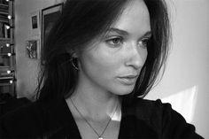 crescent moon earring from Maria Nilsdotter