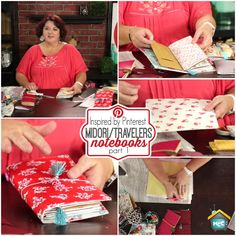oin Lori Allred for Inspired by Pinterest as she shares her latest obsession of making Midori or Fauxdori / Travelers Notebooks Covers, Inserts and more. If you are a list maker or note taker then you will love these. They also make great GIFTS too! Lori will share all of the great Pins and information she collected, tested and tried with you in this two part feature.