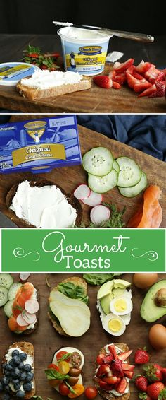 From pear and blueberries to avocado, egg and smoked salmon, our gourmet toasts are the best of both savory and sweet worlds!