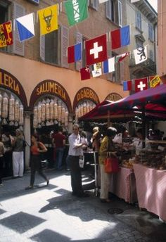 Market in Lugano, Ticino, Switzerland
