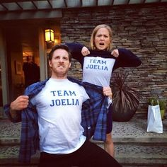 Sam Jaeger (Joel Graham) and Erika Christensen (Julia Braverman-Graham) on the set of Parenthood. #TeamJoelia
