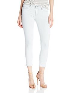 AG Adriano Goldschmied Womens The Stilt Crop Years Frost 27 ** Be sure to check out this awesome product.(This is an Amazon affiliate link and I receive a commission for the sales)
